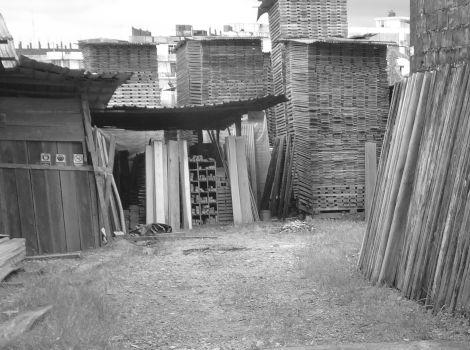 Depósito de madera de la empresa maderera - Maderas La Primavera